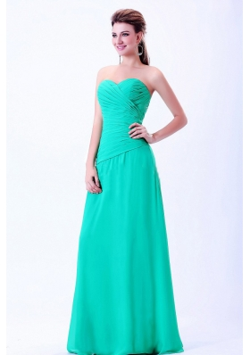 2013 Pleats Sweetheart Prom Dress Turquoise