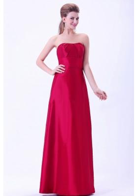 Wine Red Under 150 Bridemaid Dress A-line