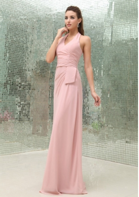 Cheap Light Pink Halter Prom Dress For 2013 Brush