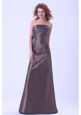 Simple Brown A-line Mother Dresses for Prom