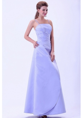 Spaghetti Straps Lilac Elegant Bridemaid Dress A-line