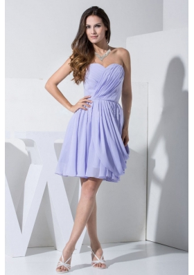 Elegant Lilac Prom Cocktail Dress For 2013 Pleats