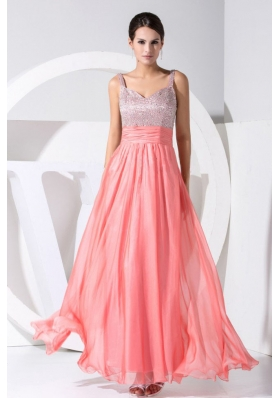 Beading Straps Watermelon Straps 2013 Prom Dress
