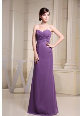 Sweetheart Prom Dress Ring Ruch Floor-length