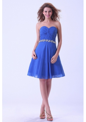 Bridesmaid Dresses With Sweetheart Appliques Royal Blue