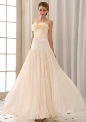 Champagne Empire Prom Dress Sweetheart Floor-length