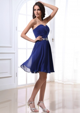 Sweetheart Beading Prom Dress Empire Royal Blue