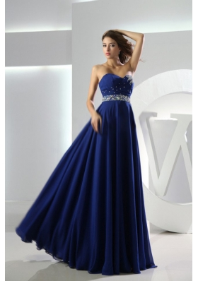 Sweetheart Empire Floor-length Royal Blue Prom Dress