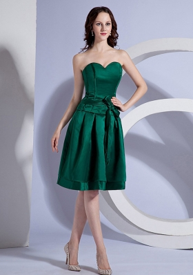 Bow Green Bridesmaid Dresses A-line Sweetheart