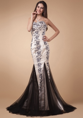 Gorgeous Mermaid Prom Evening Dress With Appliques Sweetheart