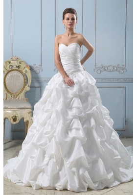 Ball Gown Sweetheart Wedding Dress Pick-ups