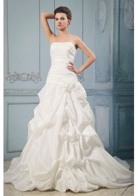 Bridal Gowns Chapel Train with Pick-ups Hand Made Flower