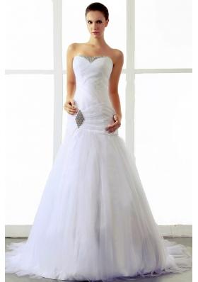2013 A-line Dress for Wedding Beading Brush