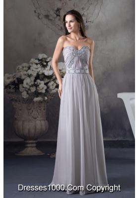 Discount Beading Column Sweetheart long Gray 2013 Prom Dress
