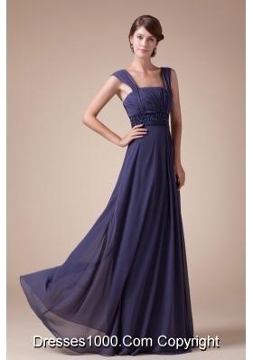 In Fashion Empire Square Neck quare Neck Long Prom Dress