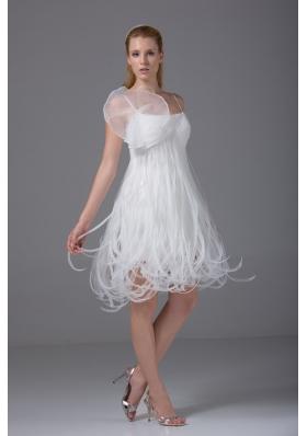 2013 Loop Skirt Spaghetti Straps Short Wedding Dress Online