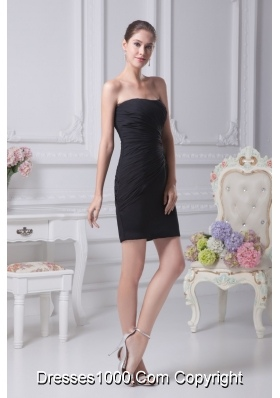 Black Sheath Sweetheart Prom Gowns Decorated with Beadings