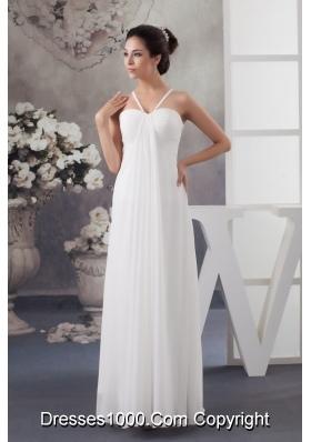 Recommended Elegant Empire Floor-length Wedding Dress in White