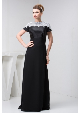 Elegant High-necks Black Floor-length Prom Dresses in Vogue