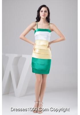 Spaghetti Straps Mini-length Prom Evening Dress in Multiple Colors