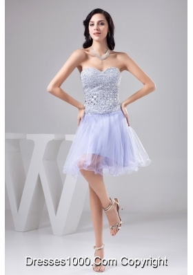 Sweetheart Prom Gown Decorated by Rhinestone and Organza Layers