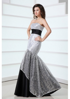 2014 Sexy Mermaid Sweetheart Sequined Grey Prom Formal Dresses