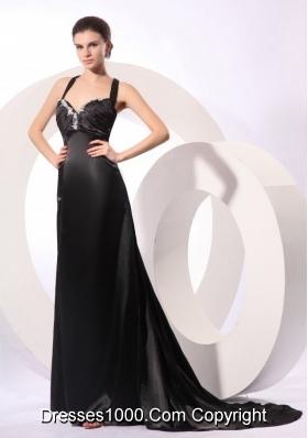 Elegant Black Criss Cross Back Evening Dress For Women