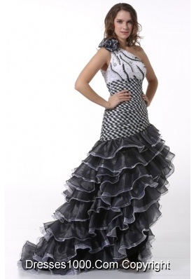 Ruffled Layers One Shoulder High-low Dresses for Prom Court