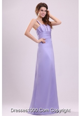 Fancy One Shoulder Lavender Taffeta Prom Formal Dress for Lady