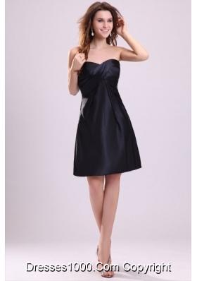 Sweetheart Ruching Taffeta Knee-length Prom Cocktail Dress