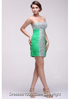 Hot Seller Beaded Sexy Mini-length Green Prom Cocktail Dress