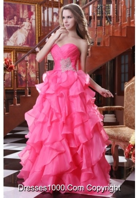 Low Price Hot Pink Prom Dresses