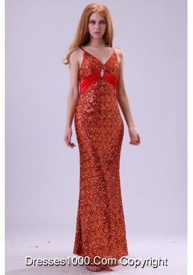 Sexy Red Sequins Prom Dress with Paillette On Sale