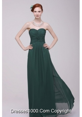Vintage Ruching Empire Sweetheart Floor-length Chiffon Prom Gowns