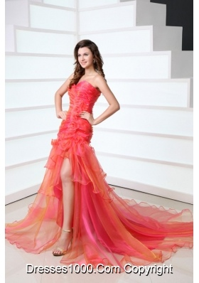 Atmospherical Colorful Sweetheart Prom Celebrity Dress with Layers