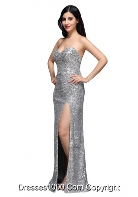 2013 New Style Column Sliver Sequin Prom Gown Dress for Girls