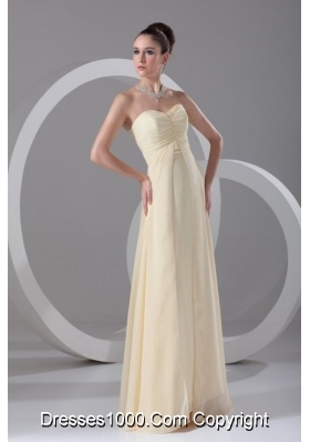 Elegant Empire Chiffon Prom Dress with Sweetheartand Ruching