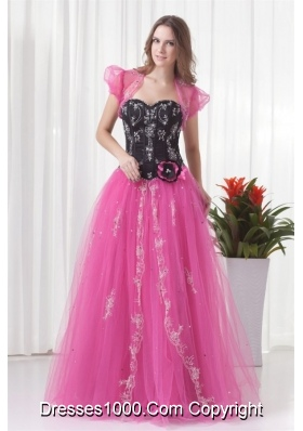 Pink Princess Sweetheart Tulle Lace Up Beading Prom Dress