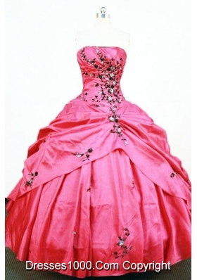 Pretty Ball Gown Strapless Floor-length Quinceanera Dresses