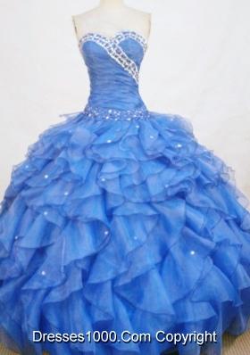 Romantic Ball Gown Sweetheart-neck Floor-length Beading Quinceanera Dresses