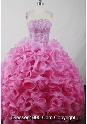 Perfect Ball Gown Strapless Floor-length Pink Quinceanera Dress Style