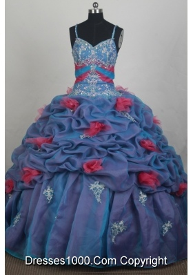 Beautiful Ball Gown Straps Floor-length Quincenera Dresses