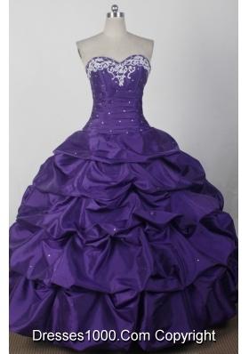 2012 Beautiful Ball Gown Sweetheart Floor-length Qunceanera Dress