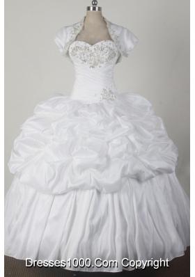2012 Cheap Ball Gown Sweetheart Floor-length Qunceanera Dress