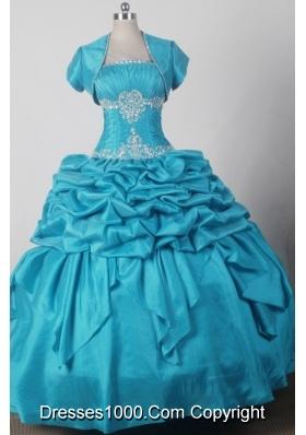 2012 Exquisite Ball Gown Strapless Floor-length Qunceanera Dress