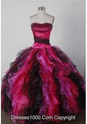 Beautiful Ball Gown Strapless Floor-length Quincenera Dresses