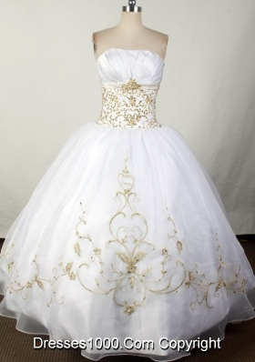 2012 Brand New Ball Gown Strapless Floor-Length Quinceanera Dress