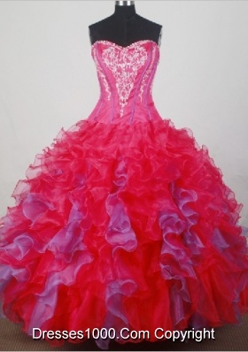 2012 Elegant Ball Gown Strapless Floor-Length Quinceanera Dresses