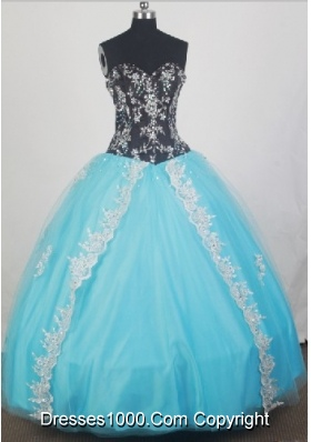 2012 Elegant Ball Gown Sweetheart Floor-Length Quinceanera Dresses