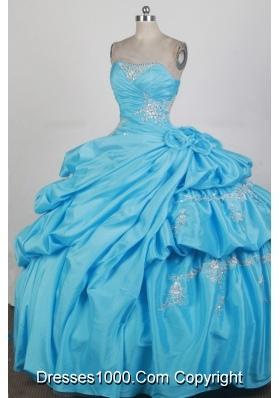 2012 Exquisite Ball Gown Strapless Floor-Length Quinceanera Dress